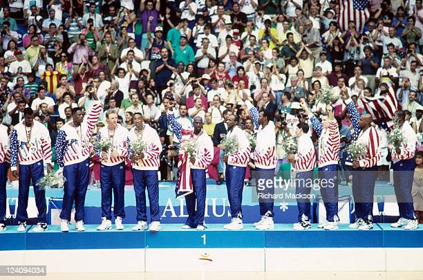 1992 Summer Olympics Team USA David Robinson Patrick Ewing Larry Bird Scottie Pippen Michael Jordan Clyde Drexler Karl Malone John Stockton Chris...