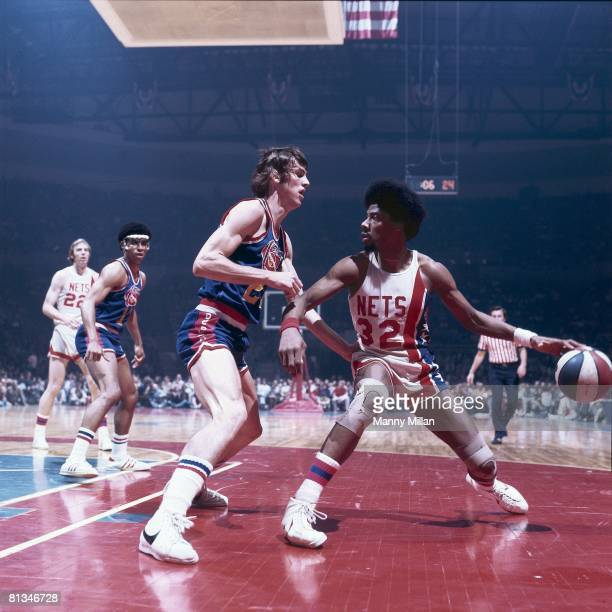 Basketball ABA Championship New York Nets Dr J Julius Erving in action vs Denver Nuggets Uniondale NY 5/6/1976