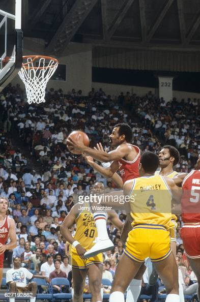 ACC All Stars John Lucas in action vs NBA All Stars during exhibition game at Norfolk Scope Norfolk VA CREDIT Jerry Wachter