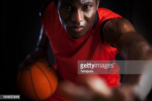 agressive Basketball player