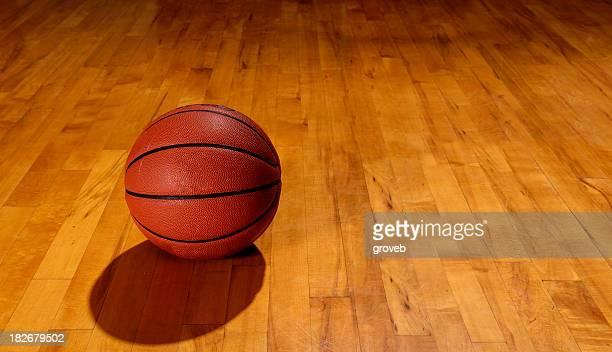 Basketball and floor