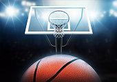 3d modelled and rendered basketball hoop.