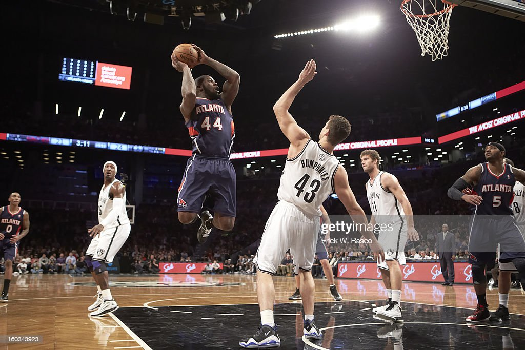 Atlanta Hawks Ivan Johnson (44) in action vs Brooklyn Nets at Barclays Center. Erick W. Rasco F233 )