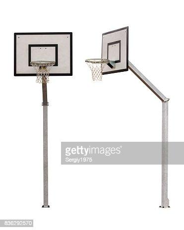basketball backboard isolated on white background : Stock Photo