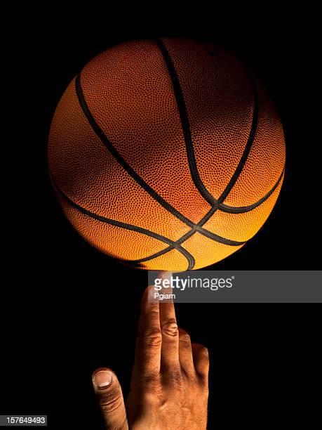 Basketball balance spin on a finger
