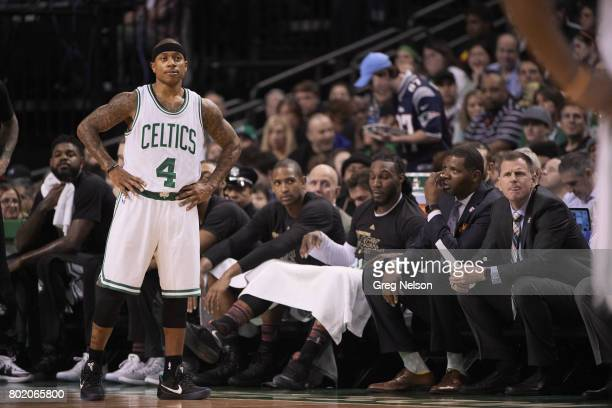 Boston Celtics Isaiah Thomas during game vs Los Angeles Lakers at TD Garden Boston MA CREDIT Greg Nelson