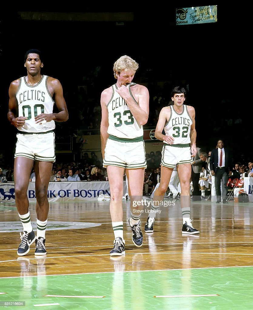 Boston Celtics Robert Parish Larry Bird and Kevin McHale