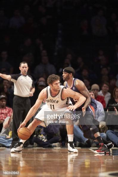 Brooklyn Nets Brook Lopez in action vs Atlanta Hawks at Barclays Center Brooklyn NY CREDIT Erick W Rasco