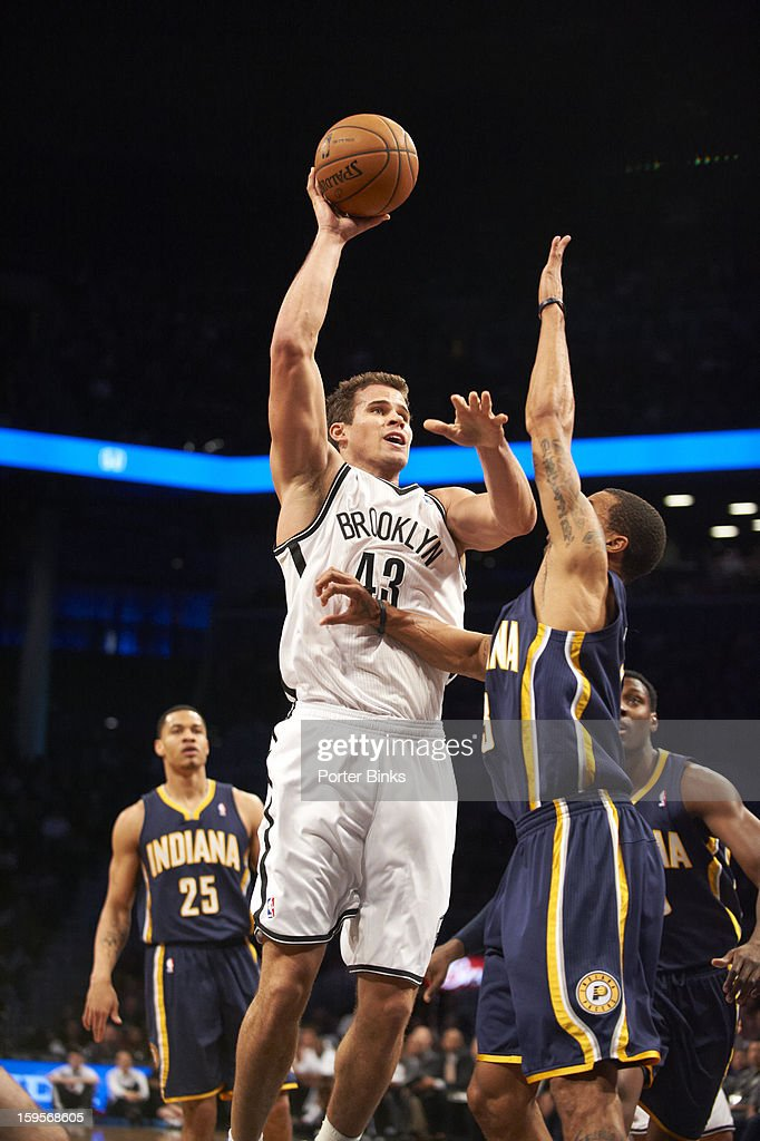 Brooklyn Nets Kris Humphries (11) in action vs Indiana Pacers at Barclays Center. Porter Binks F35 )