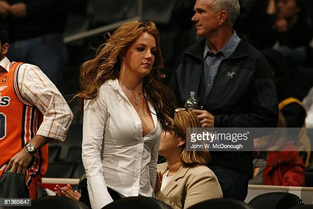 Basketball Celebrity singer and performer Britney Spears during Washington Wizards vs Los Angeles Lakers game Los Angeles CA
