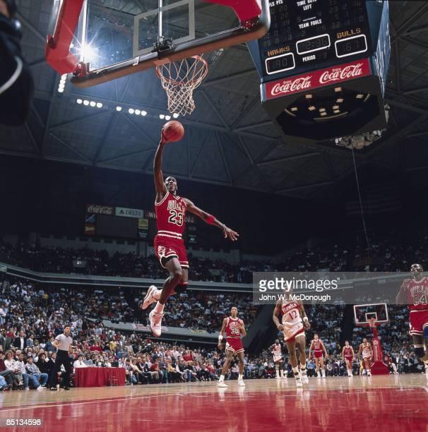 Chicago Bulls Michael Jordan in action vs Atlanta Hawks Chicago IL 2/25/1989 CREDIT John W McDonough