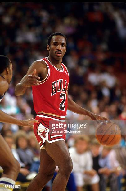 Chicago Bulls Rory Sparrow in action vs Denver Nuggets at McNichols Sports Arena Denver CO CREDIT Damian Strohmeyer