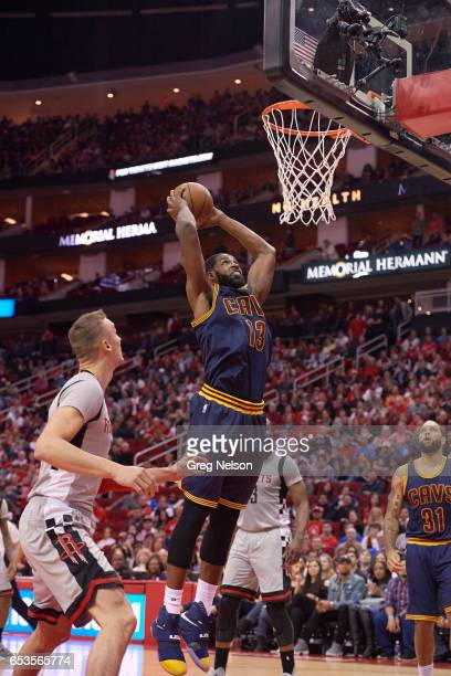 Cleveland Cavaliers Tristan Thompson in action dunking vs Houston Rockets at Toyota Center Houston TX CREDIT Greg Nelson