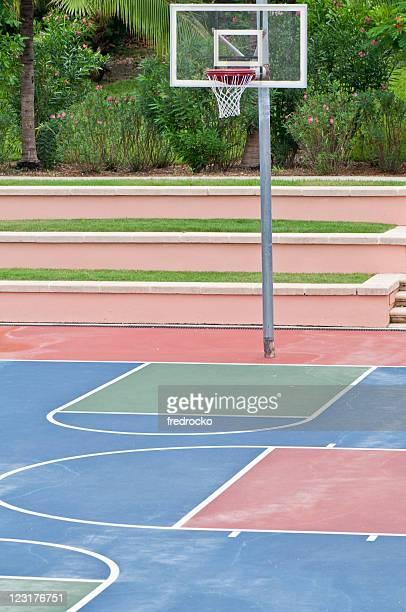 Basketball Close up on a Basketball Court