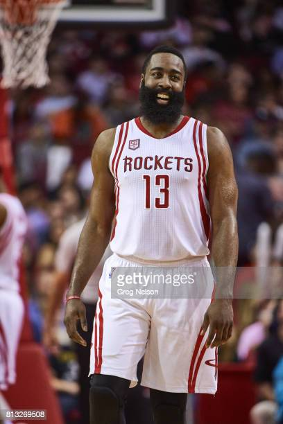 Closeup of Houston Rockets James Harden during game vs Phoenix Suns at Toyota Center Houston TX CREDIT Greg Nelson