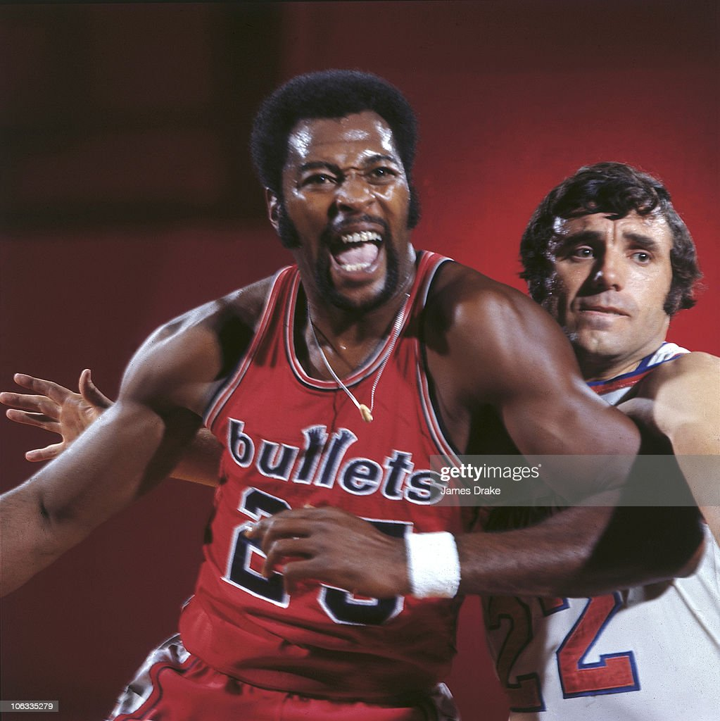 Baltimore Bullets Gus Johnson and New York Knicks Dave DeBusschere