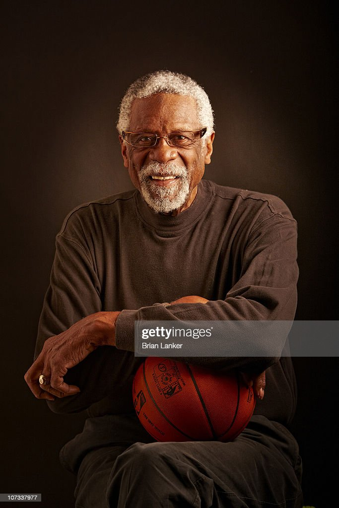 Closeup portrait of Hall of Famer and former Boston Celtics player <a gi-track='captionPersonalityLinkClicked' href=/galleries/search?phrase=Bill+Russell+-+Basketball+Player&family=editorial&specificpeople=11524303 ng-click='$event.stopPropagation()'>Bill Russell</a> during photo shoot. Mercer Island, WA