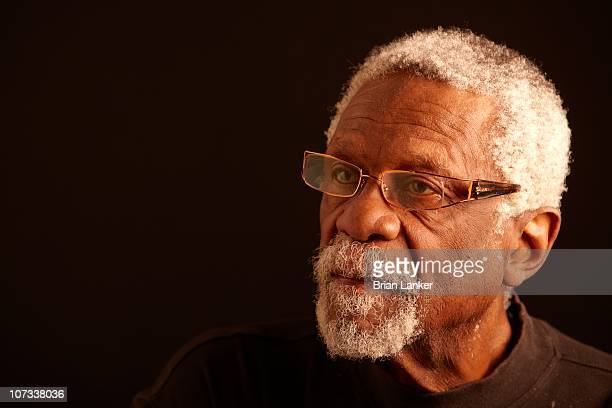 Closeup portrait of Hall of Famer and former Boston Celtics player Bill Russell during photo shoot Mercer Island WA CREDIT Brian Lanker