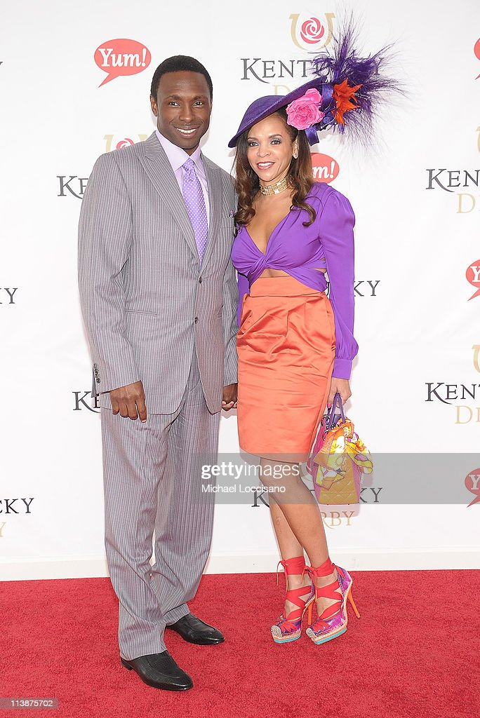 Basketball coach Avery Johnson and wife Cassandra Johnson attend the 137th Kentucky Derby at Churchill Downs on May 7 2011 in Louisville Kentucky