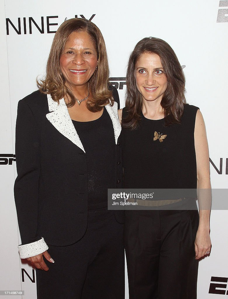 Basketball Coach C Vivian Stringer and director Bess Kargman attend 'Venus Vs' and 'Coach' New York Special Screening at Paley Center For Media on...