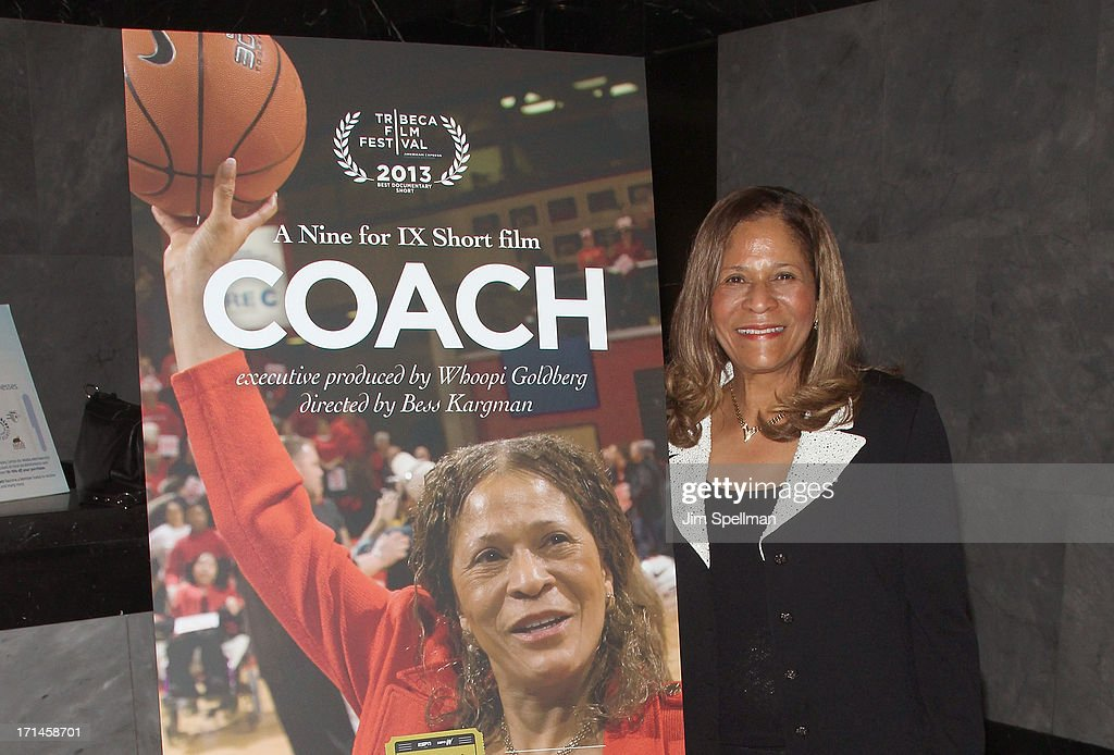 Basketball Coach C Vivian Stringer attends 'Venus Vs' and 'Coach' New York Special Screening at Paley Center For Media on June 24 2013 in New York...