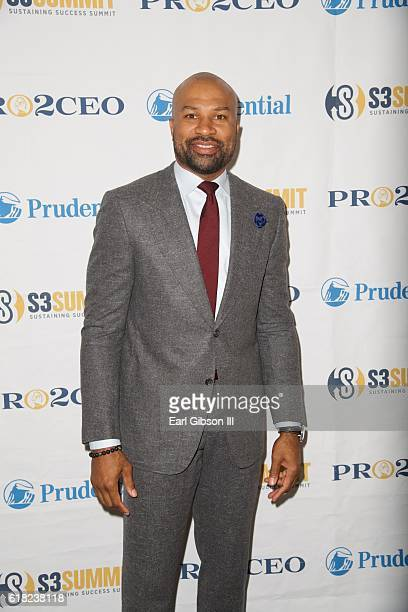 Basketball coach Derek Fisher attends Sustaining Success Summit Luncheon at Staples Center on October 25 2016 in Los Angeles California