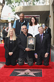Basketball Coach Doc Rivers Maureen Schultz sportscaster Ralph Lawler and CEO of the Hollywood Chamber of Commerce Leron Gubler attend a ceremony...