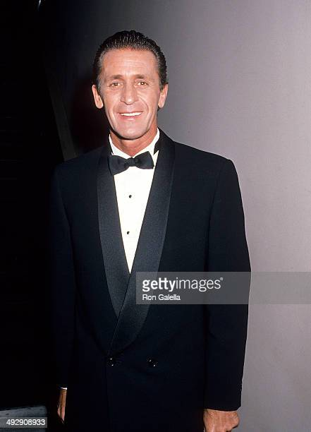 Basketball coach Pat Riley attends the Athletes Entertainers for Kids' AllStar Tribute to Kareem AbdulJabbar on April 24 1989 at the Century Plaza...