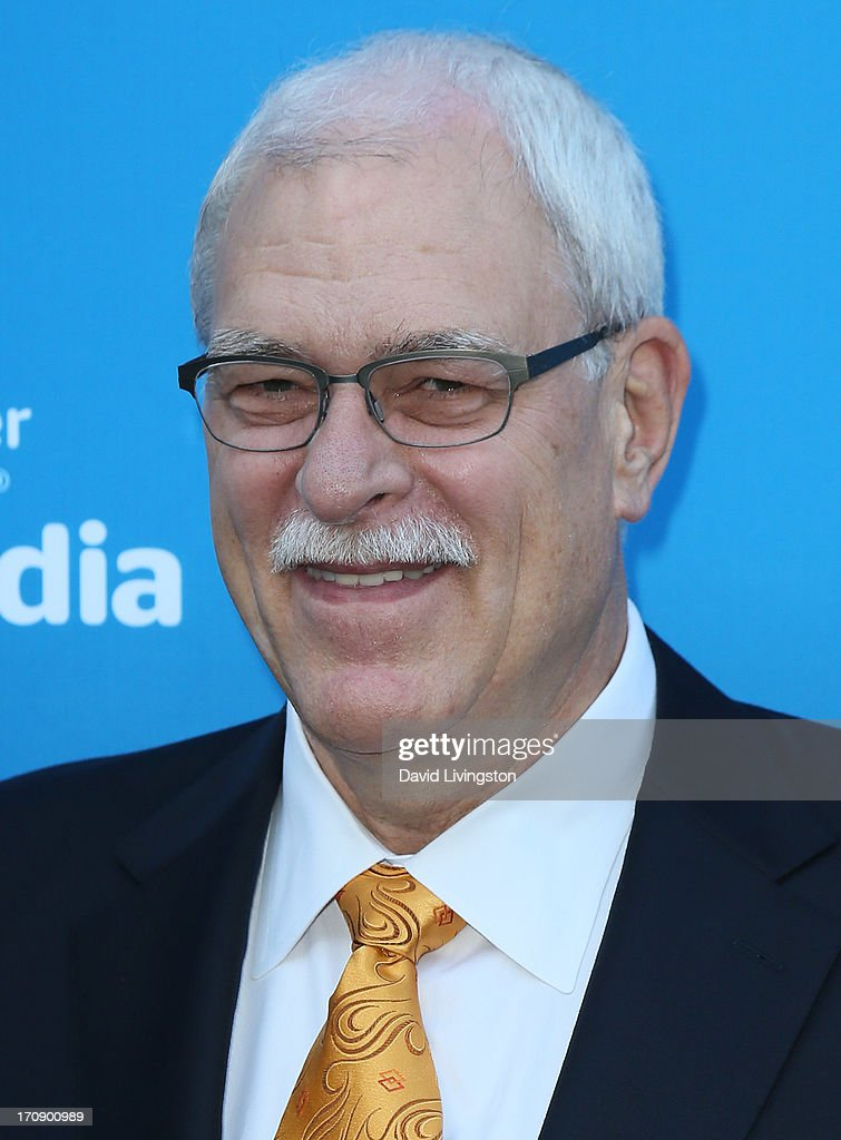 Basketball coach <a gi-track='captionPersonalityLinkClicked' href=/galleries/search?phrase=Phil+Jackson&family=editorial&specificpeople=201756 ng-click='$event.stopPropagation()'>Phil Jackson</a> attends Time Warner Cable Media (TWC Media) 'View From The Top' Upfront at Vibiana on June 19, 2013 in Los Angeles, California.