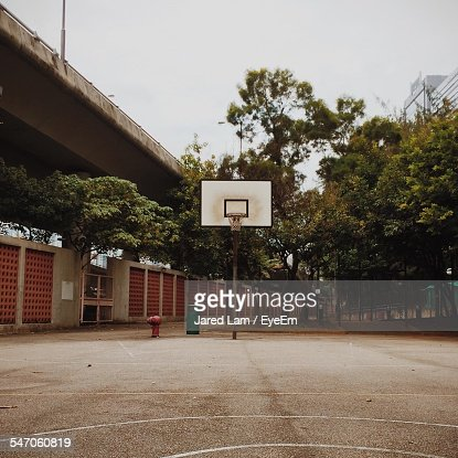 Basketball Court In Playground