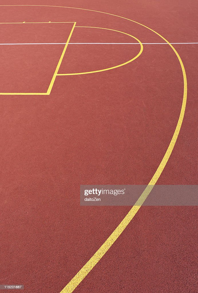 Basketball court lines : Stock Photo