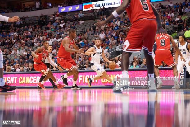 Dallas Mavericks JJ Barea in action vs Chicago Bulls during preseason game at American Airlines Center Dallas TX CREDIT Greg Nelson