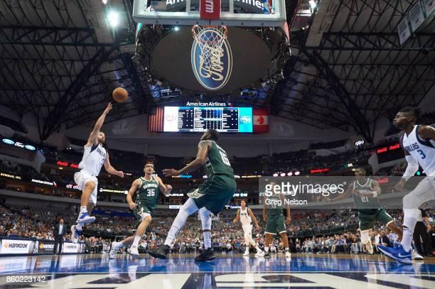 Dallas Mavericks JJ Barea in action vs Milwaukee Bucks during preseason game at American Airlines Center Dallas TX CREDIT Greg Nelson