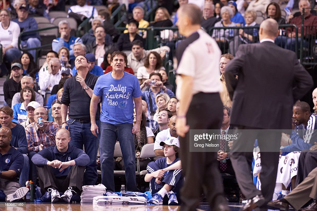 Dallas Mavericks owner Mark Cuban upset, in stands during game vs Houston Rockets at American Airlines Center. Greg Nelson F20 )