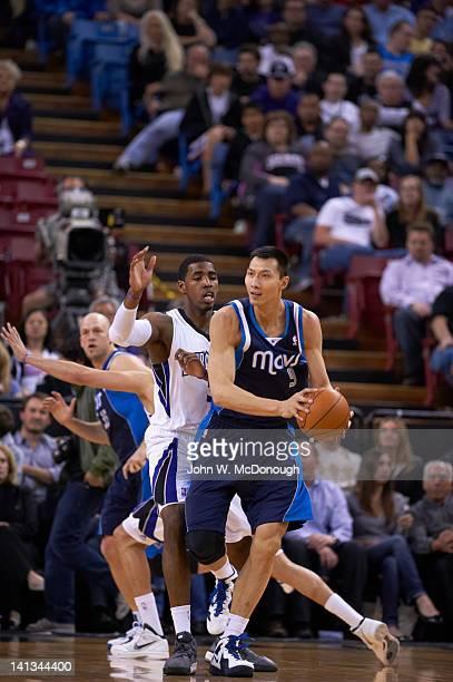 Dallas Mavericks Yi Jianlian in action vs Sacramento Kings at Power Balance Pavilion Sacramento CA CREDIT John W McDonough