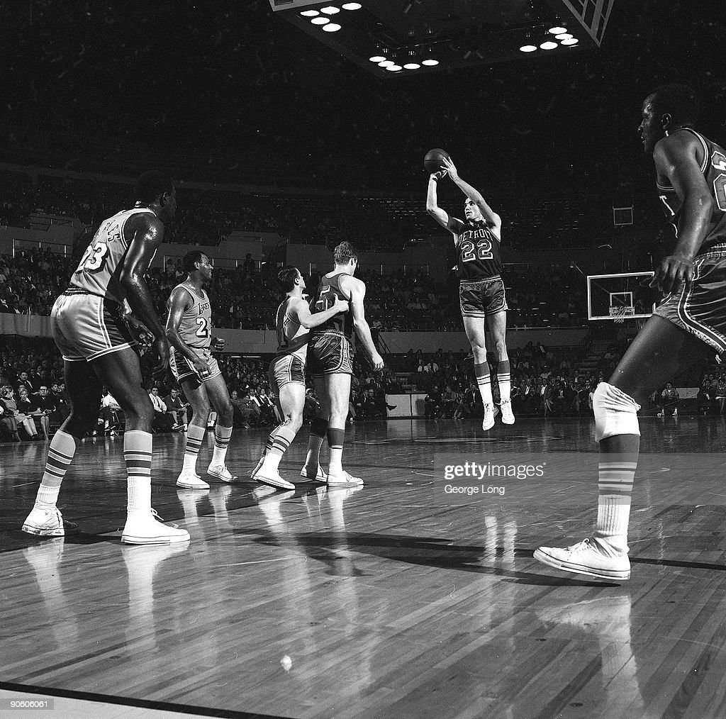 Detroit Pistons Dave Debusschere in action shot vs Los Angeles Lakers Inglewood CA CREDIT George Long