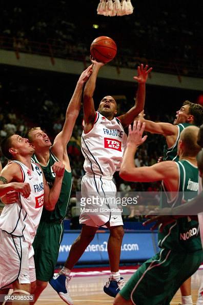 Basketball European Championship 2003 semi final France vs Lithuania Tony Parker Basketball Championnat d Europe 2003 demi finale France contre...