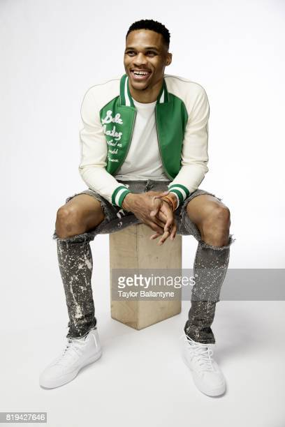 Fashionable 50 Portrait of Oklahoma City Thunder guard Russell Westbrook posing during photo shoot at Thunder Practice Facility Oklahoma City OK...