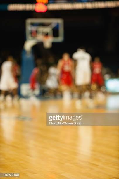 Basketball game, defocused