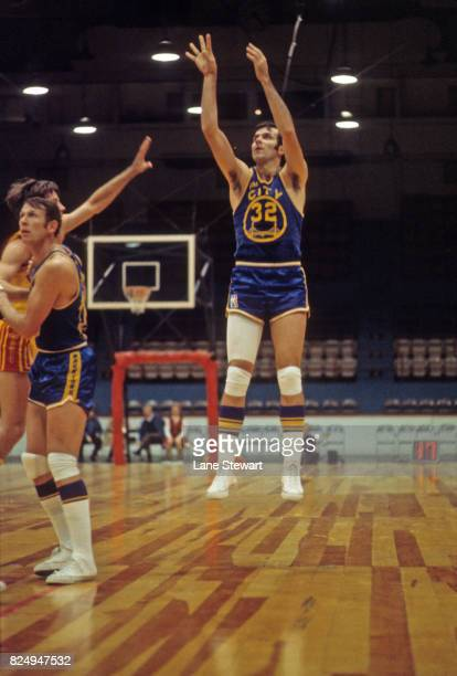 Golden State Warrirors Jerry Lucas in action vs Cleveland Cavaliers at Cleveland Arena Cleveland OH CREDIT Lane Stewart