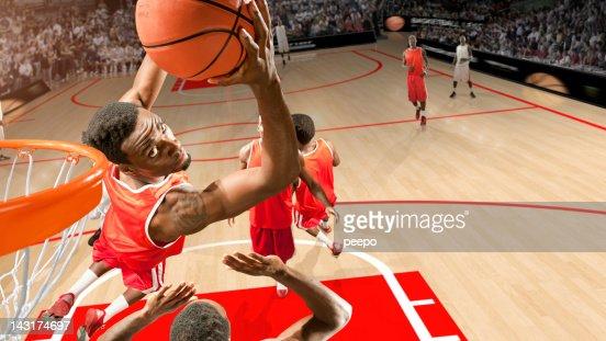 Basketball Hero Does Reverse Slam Dunk