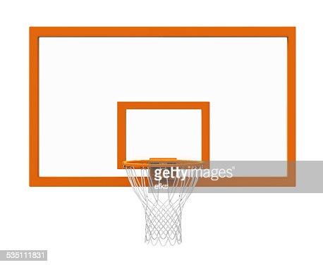 Basketball hoop isolated : Stock Photo
