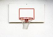 basketball hoop at a backyard
