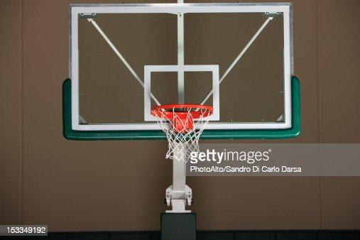 Basketball hoop with backboard