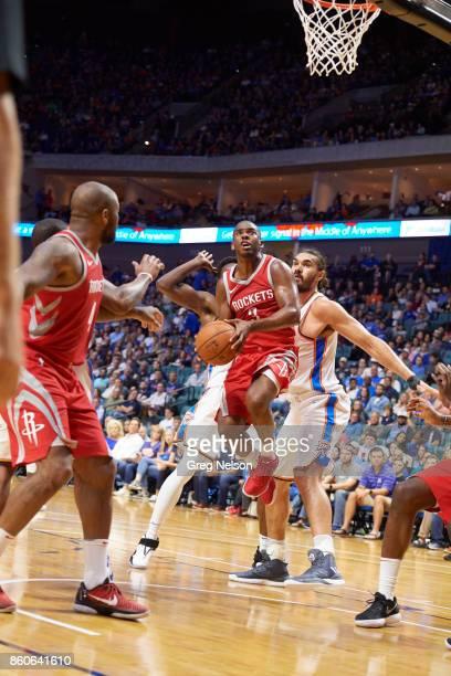 Houston Rockets Chris Paul in action vs Oklahoma City Thunder during preseason game at BOK Center Tulsa OK CREDIT Greg Nelson