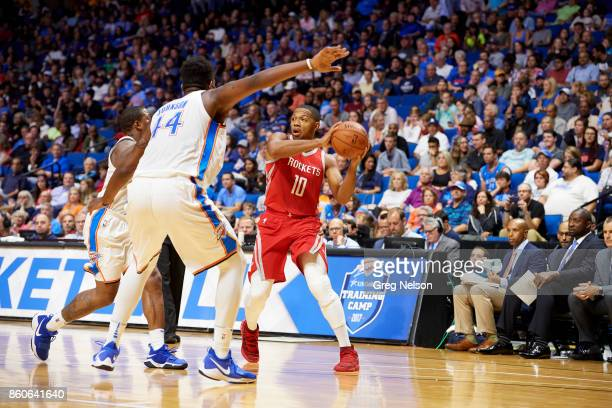 Houston Rockets Eric Gordon in action vs Oklahoma City Thunder during preseason game at BOK Center Tulsa OK CREDIT Greg Nelson