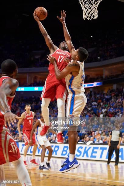 Houston Rockets Isaiah Taylor in action vs Oklahoma City Thunder during preseason game at BOK Center Tulsa OK CREDIT Greg Nelson