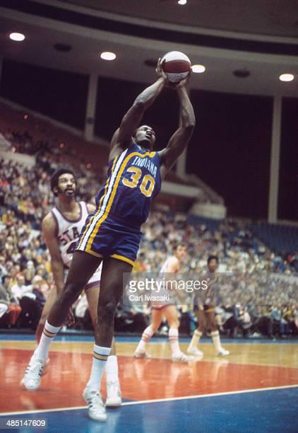 Indiana Pacers George McGinnis in action vs Utah Stars at The Salt Palace Salt Lake City UT CREDIT Carl Iwasaki