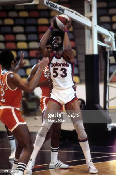 Kentucky Colonels Artis Gilmore in action vs Spirits of St Louis at Riverfront Coliseum Cincinnati OH CREDIT Manny Millan