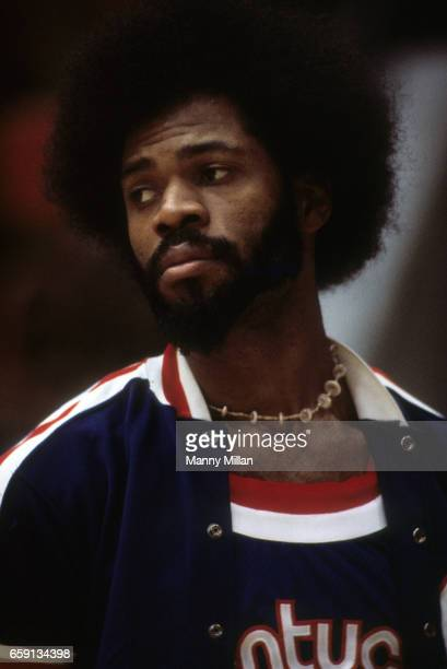 Kentucky Colonels Artis Gilmore on bench vs Indianapolis Pacers at Market Square Arena Indianapolis IN CREDIT Manny Millan